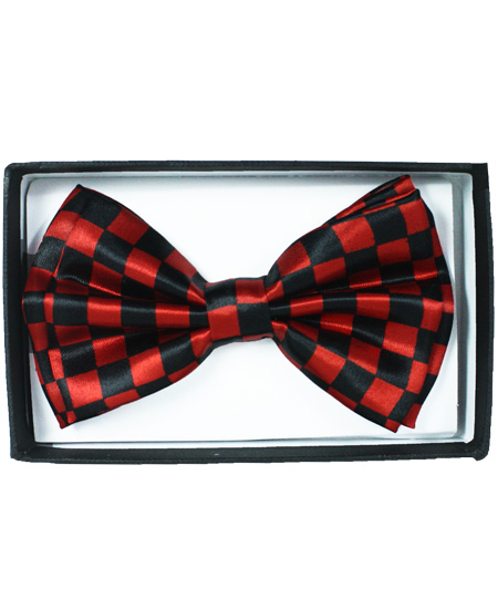 BOWTIE 043 CHECKERED RED
