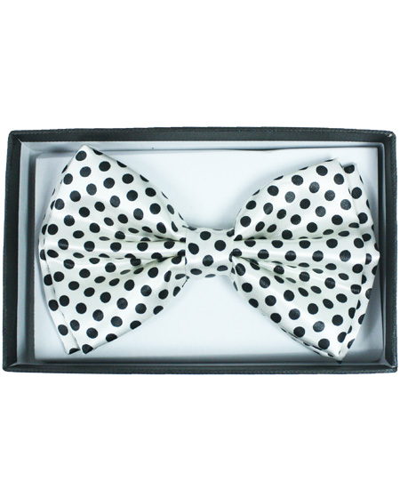 BOWTIE 052 BLACK POLKA DOT