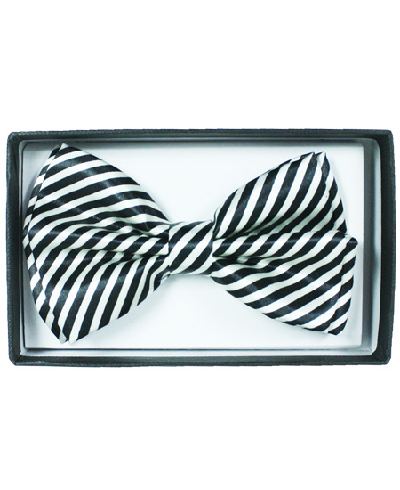 BOWTIE 060 WHITE STRIPED