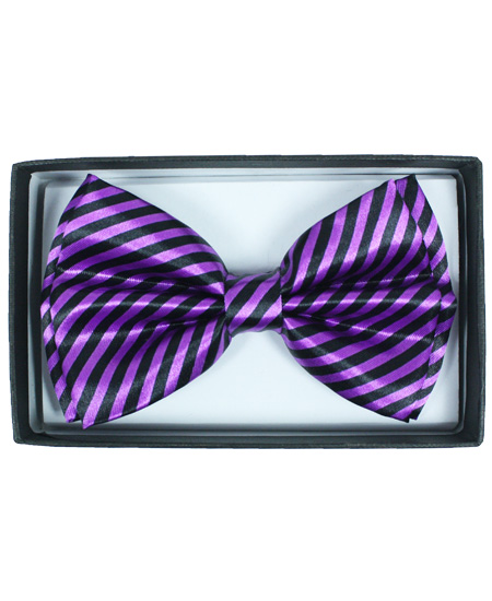 BOWTIE 063 PURPLE STRIPED