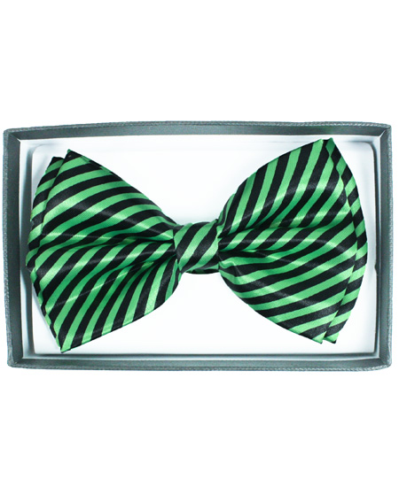 BOWTIE 066 GREEN STRIPED