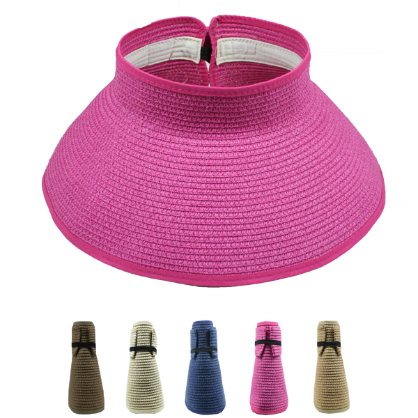 Woman Wide Brim Foldable Sun Visor Hat (047)