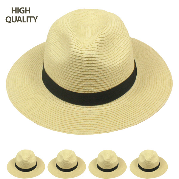 High Quality One Color Fedora Hat  with Black Strip (801)