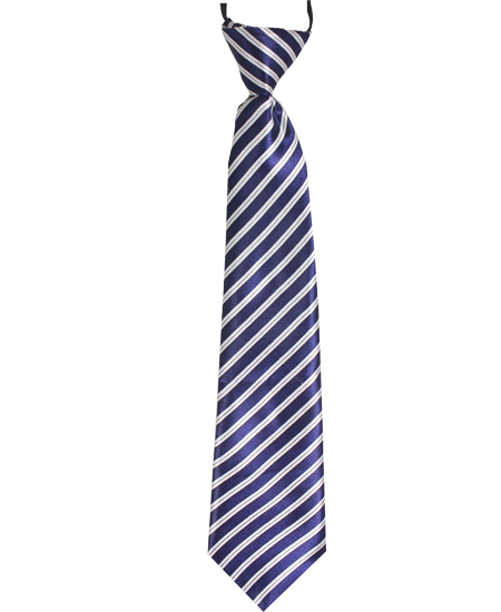 KID NECKTIE 411 BLUE WHITE LINES