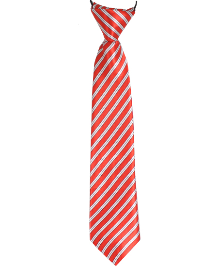 KID NECKTIE 412 RED WHITE LINES