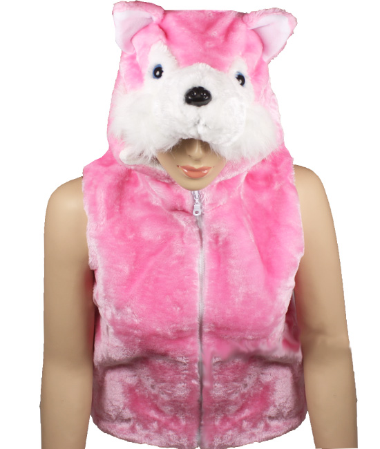 Cute Warm Kid's Pink Cat Animal Jacket with Hat (307)