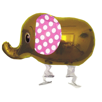 Walking  Gold Elephant Balloon (023)
