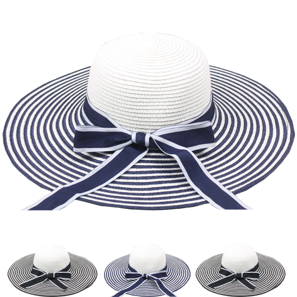 Elegant Sunshade Summers Beach Straw Hat (015)