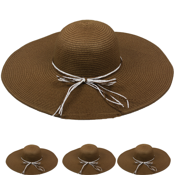 Women Wide Brim Floppy Summer Straw Hat (111)