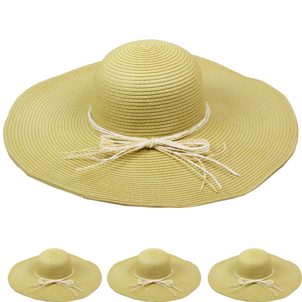 Women Wide Brim Floppy Summer Straw Hats (110)