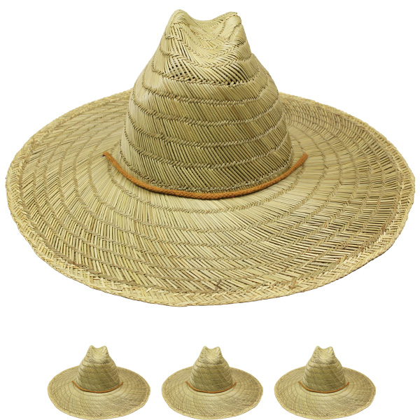 Wide Brim Pierside Straw Men Sun Hat (006)