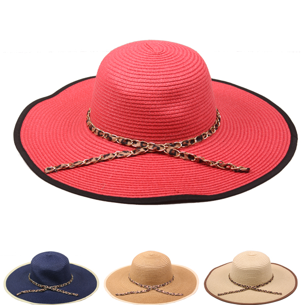 Woman Wide Brim Floppy Summer Beach Hat (117)