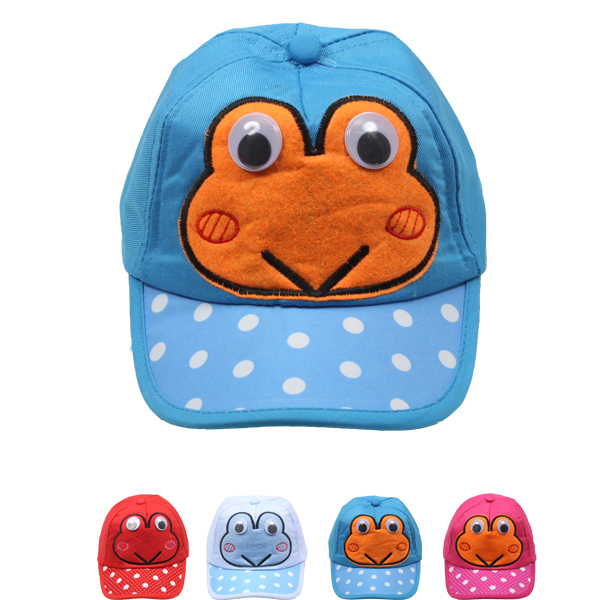 Baby Boy Frog Character Soft Foam Baseball Hat (0018)