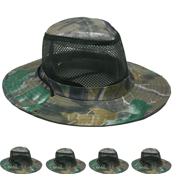 Men Breathable Hiking Mesh Camouflage Boonie Hat (012)