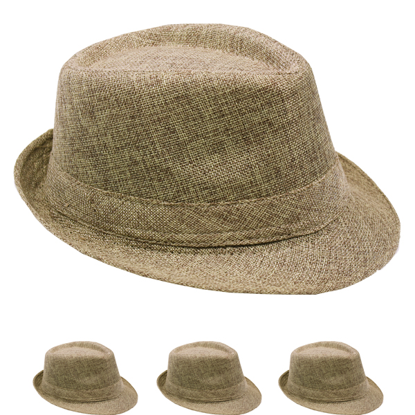 Crushable Brown Adult Casual Trilby Fedora Hat (019)