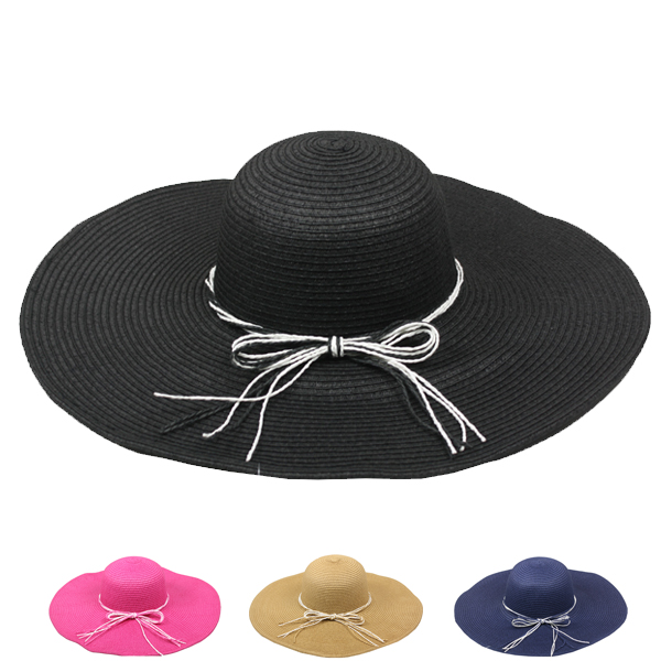 Woman Wide Brim Floppy Summer Straw Hat (116)