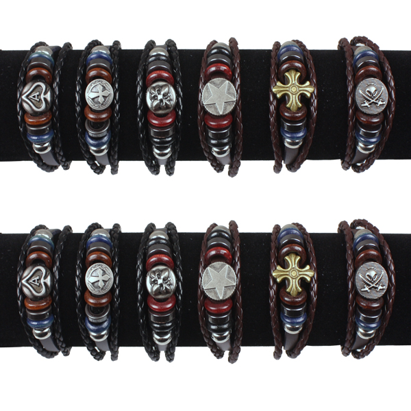 LTH AB 055 LEATHER BRACELET 60 PCS