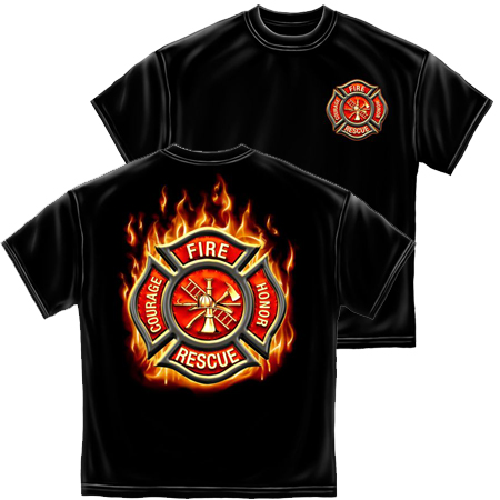 T-SHIRT 021 FIREFIGHTER CLASSIC FIRE MALTESE SMALL SIZE
