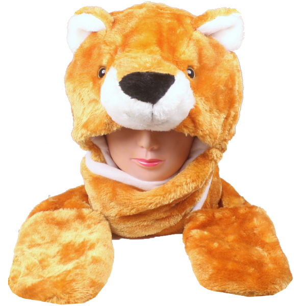 Soft Plush Bear Animal Character Ear-flap Hat (028)