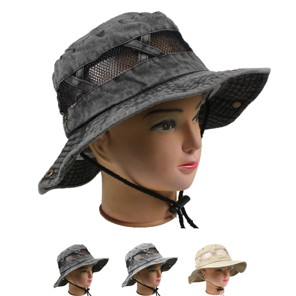 Men Foldable Outdoor Fishing Hiking Boonie Hat (053)