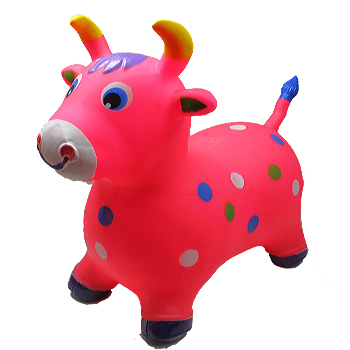 BLN 093 INFLATABLE JUMPING PINK CATTLE