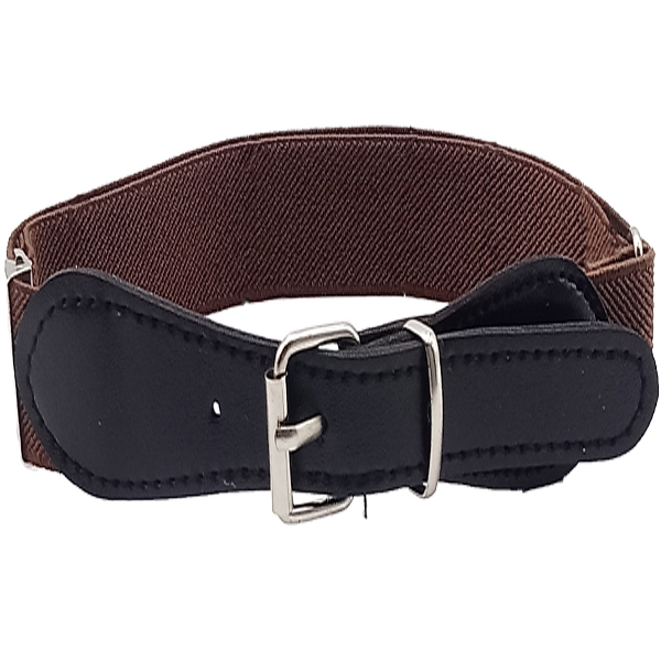 Kid 053 Kids Stretchable  Belt Brown