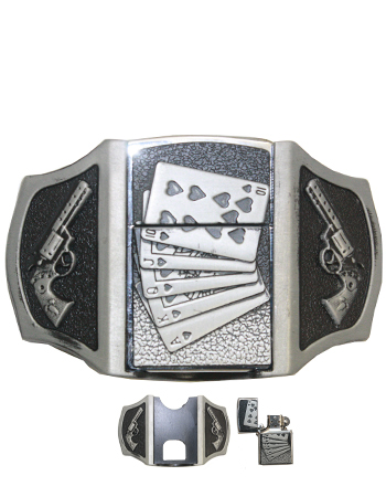 Playing Cards Lighter Belt Buckle (Light 025)