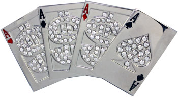 Lucky 004 Playing Card Belt Buckle