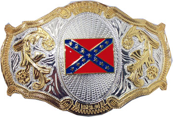Rebel Flag Belt Buckle (OV 053)