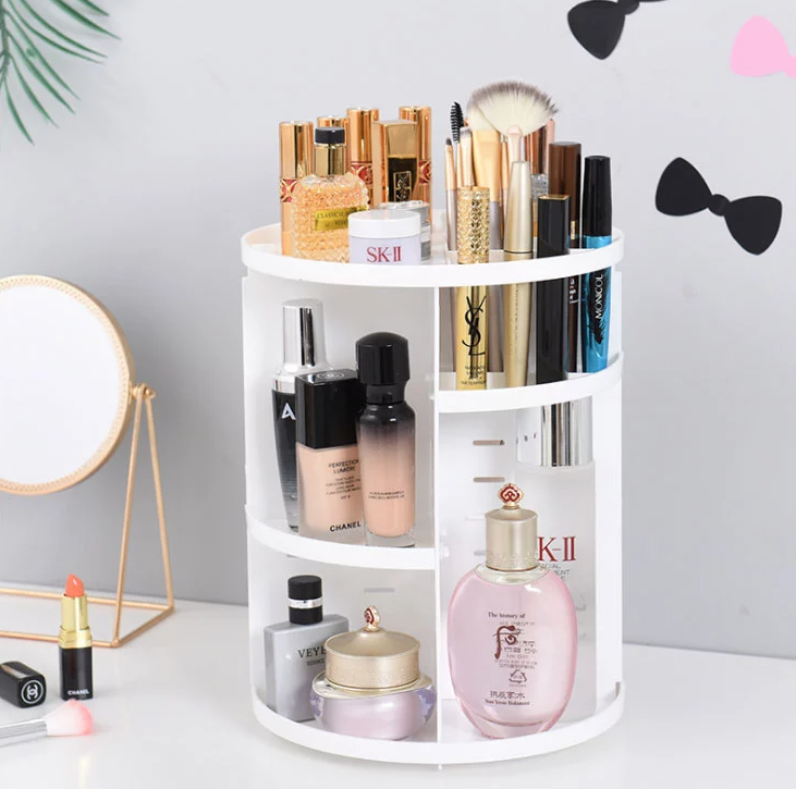 White 360 Rotating Makeup Organizer (202)