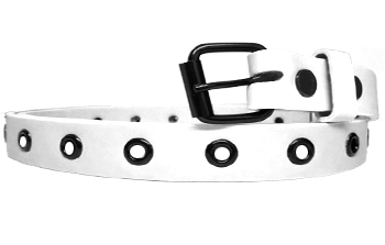 Wmb 022 White Woman Belt 1 Dozen