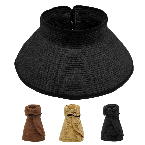 Woman Bowtie Foldable Sun Visor Hat (052)